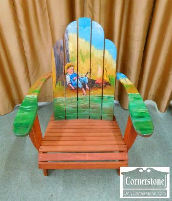 3959-1992 - Painted Adirondack Sleeping Boy Chair