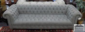 3959-2055 - Restoration Hardware Gray Tufted Sofa