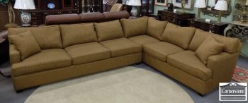 3959-2080 - Upholstered Umber Colored Sectional