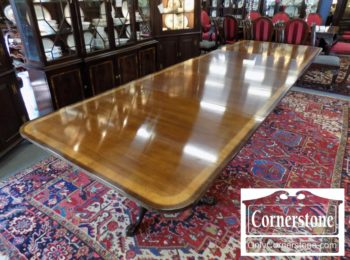 3959-2084 - Council Mahogany 12' Banded Dining Room Table