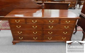 3959-2140 - Henkel Harris Mahogany Chippendale Dresser - Finish #29