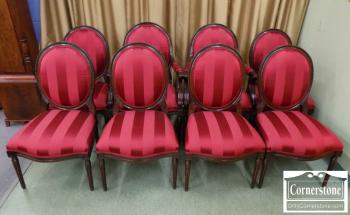 3959-2156 - 8 Henredon Mahogany Chairs