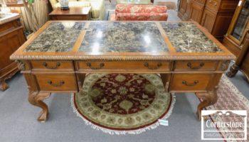 3959-2175 - Hooker Marbletop Executive Desk