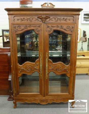 3959-2177 - Century Cherry French Style Curio Cabinet