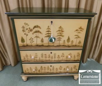 3959-2187 - Painted Chest with Pull Down Front