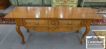 3959-2188 - Don Russell NYC Oak Console Table
