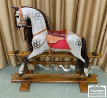 3959-2350 - English Made Repro 19th Century Rocking Horse