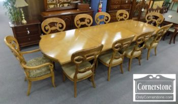 3959-2406 - Century Mixed Woods Table with 2 Leaves and 10 Chairs