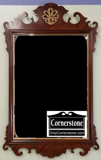 3959-2427 DREXEL CHIPPENDALE STYLE BEVELED MIRROR