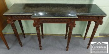 3959-2490 - Maitland Smith Mahogany Marble Top Console