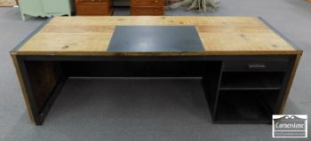 3959-2502 - Fir Industrial Rustic DeskConsole