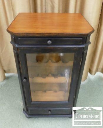 3959-2537 - Black Painted Wine Cabinet