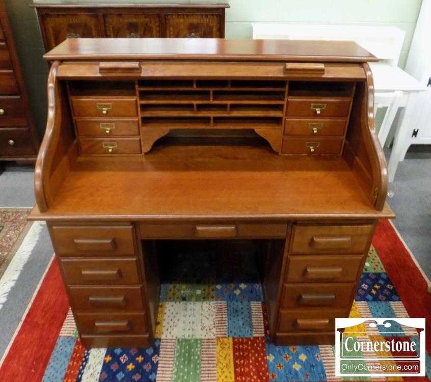 3959 2629 Tom Seely Cherry Roll Top Desk