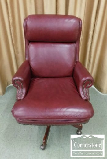 3959-2690 - Hekman Red Leather Executive Chair