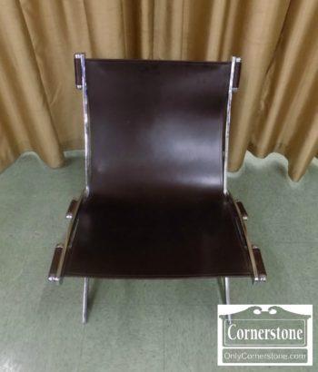 3959-2719 - Modern Leather Chair with Chrome Frame