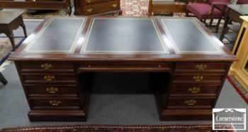 3959-2747 - Sligh Cherry Leather Top Executive Desk