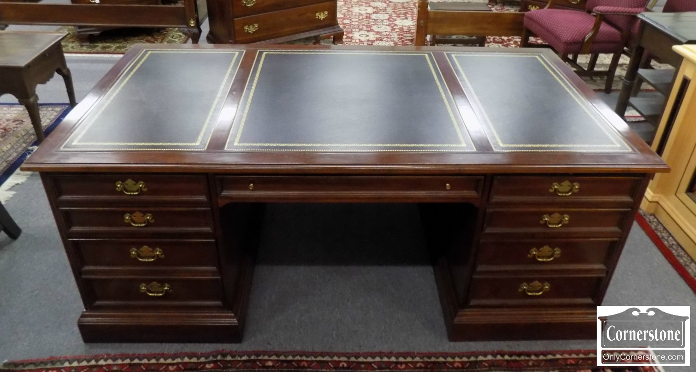 3959 2747 Sligh Cherry Leather Top Executive Desk