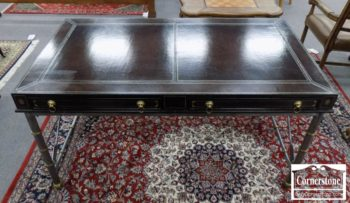 3959-2758 - Maitland Smith Leather Desk with Metal Base