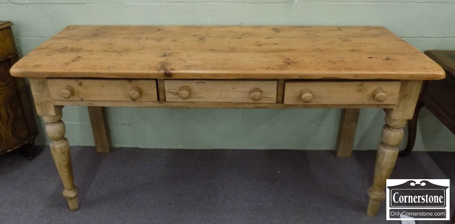 3959 2777 Large Rustic Pine Console