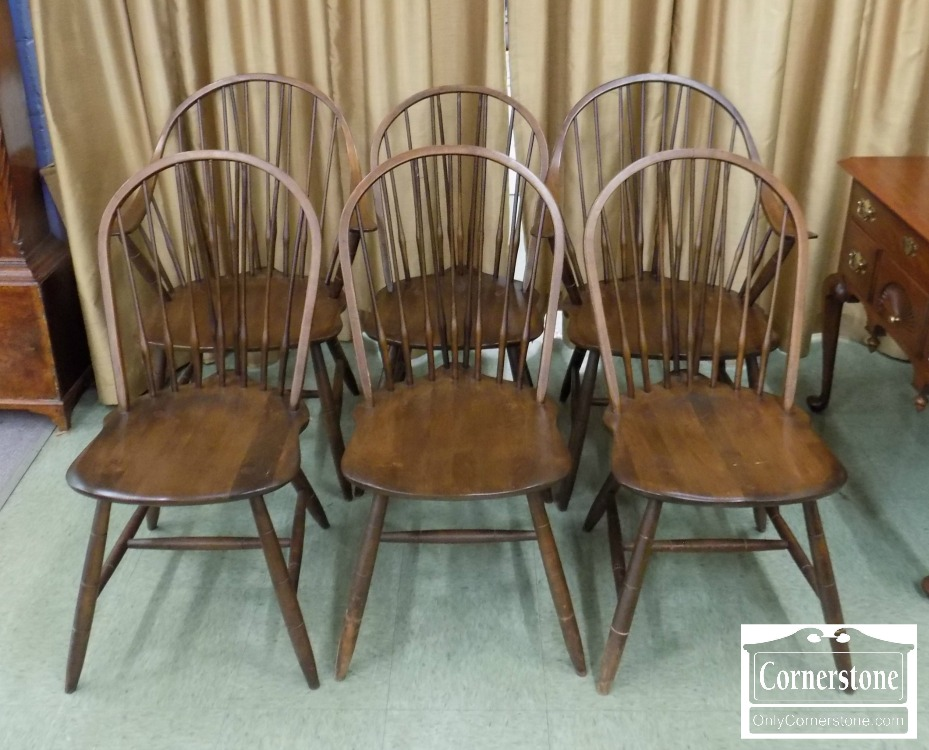 3959 2802   Set Of 6 Hale Windsor Chairs