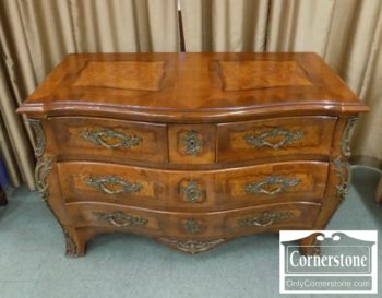 3959-2915 - Walnut French Style 3 Drawer Chest