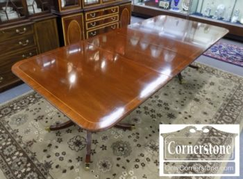 3959-2928 - Baker Mah Ped Table w2 Leaves