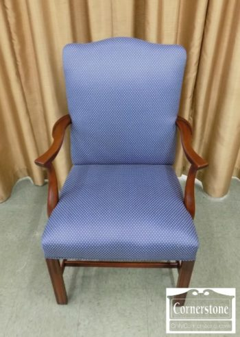 3959-2991 - Gimbel Bros Blue Uph Arm Chair