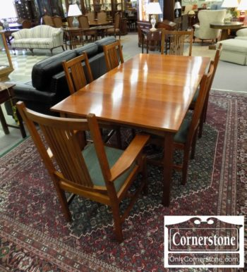 3959-2992 - Stickley Sol Cher Mission Table and 6 Chairs