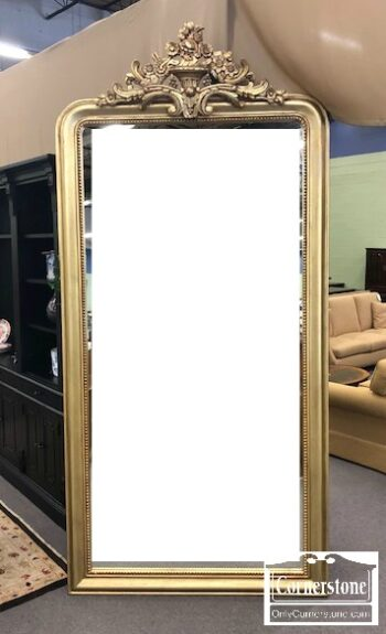 3959-3071 - Restoration Hardware Louis Philippe Gilt Leaner Mirror