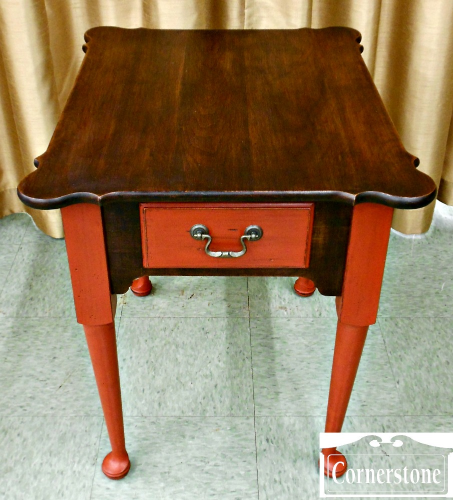 3959-822 Leister Solid Cherry Painted End Table