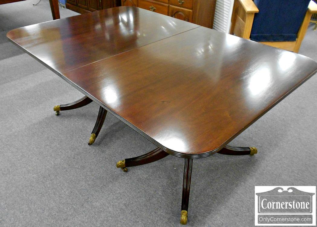 3959-922 Biggs Solid Mahogany Pedestal Dining Table