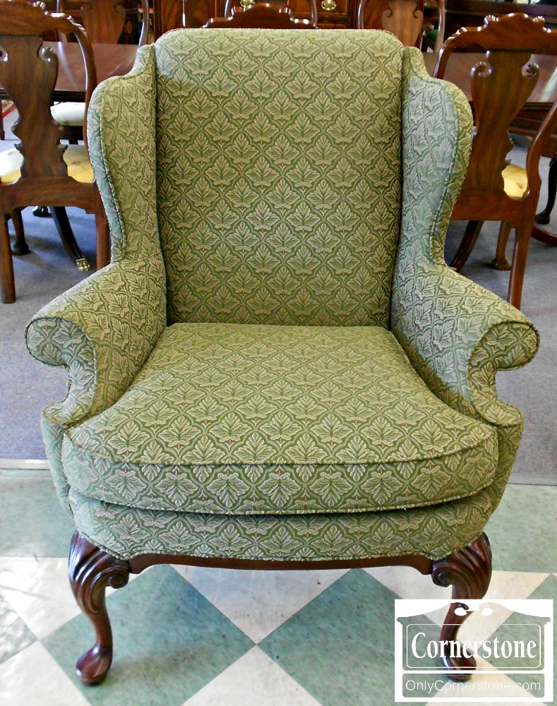 4073-6 Thomasville Green Wing Chair