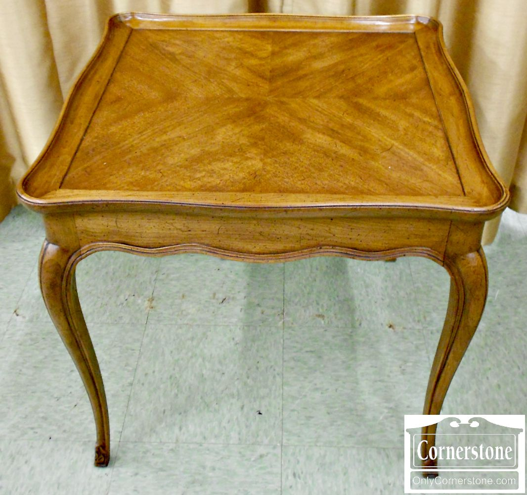 4454-1123 Henredon Mixed Wood French Style Square End Table