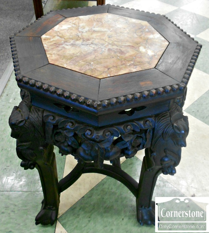 4454-1248 Chinese Marble Top Tabourette