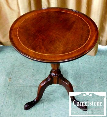 4454-1400 Potthast Solid Mahogany Inlaid Candlestick Stand