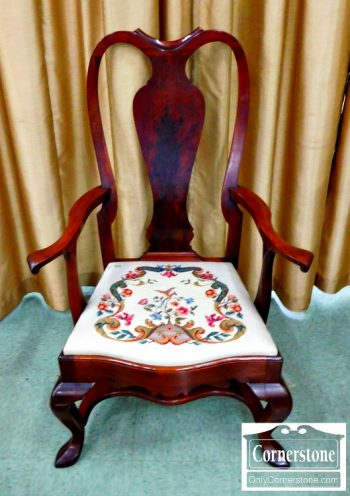 4454-1601 - Mahogany Queen Anne Oversize Arm Chair