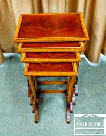 4454-1617 - Nest of 4 Mahogany Tables