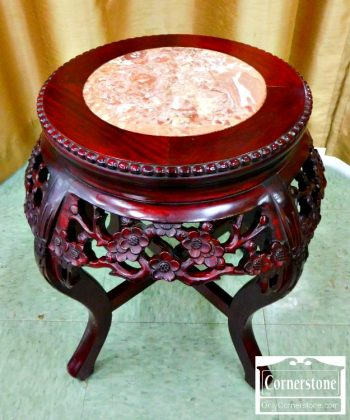 4454-1646 - Asian Marble Top Tabourette