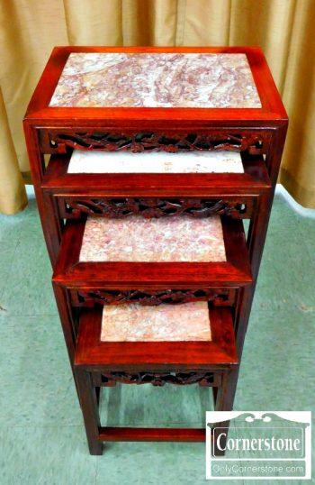 4454-1648 - Asian Marple Top Nest Tables