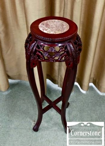 4454-1670 Carved oriental plant stand