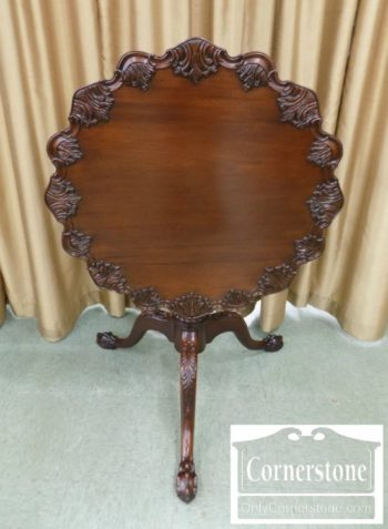 4454-2000 - Potthast Sol Mah Chipp Tilt Top Tea Table