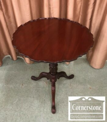 4454-2125 - Mahogany Tilt Top Pie Crust Table