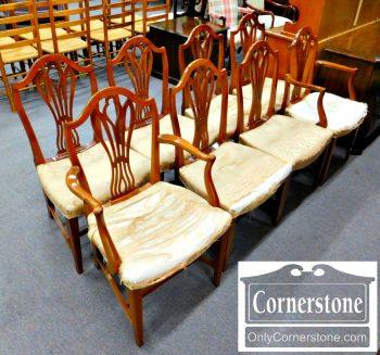 4539-70 - Liberti Mahogany John Shaw - Annapolis - Repro Hepplewhite Chairs
