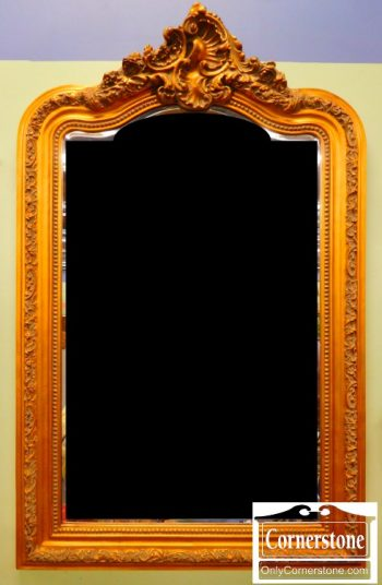 4730-5 Rustic Gold Beveled Mirror