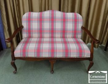 4796-23 - Upholstered Queen Anne Settee