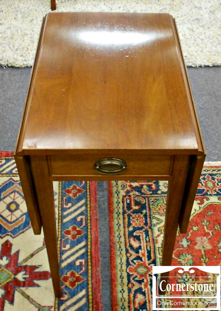 4884-1132 Solid Mahogany Hepplewhite Pembroke Table