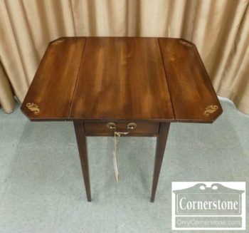 4884-2618 - Hitchcock Drop Leaf Stencilled End Table