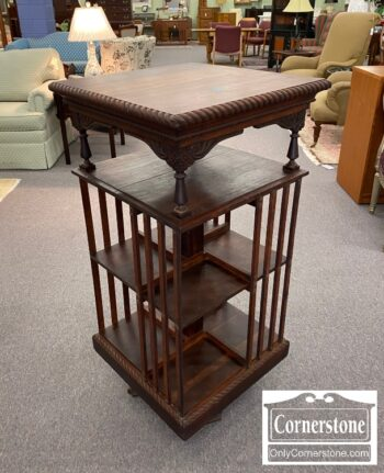 4884-2957 - Late Victorian Revolving Library Bookcase
