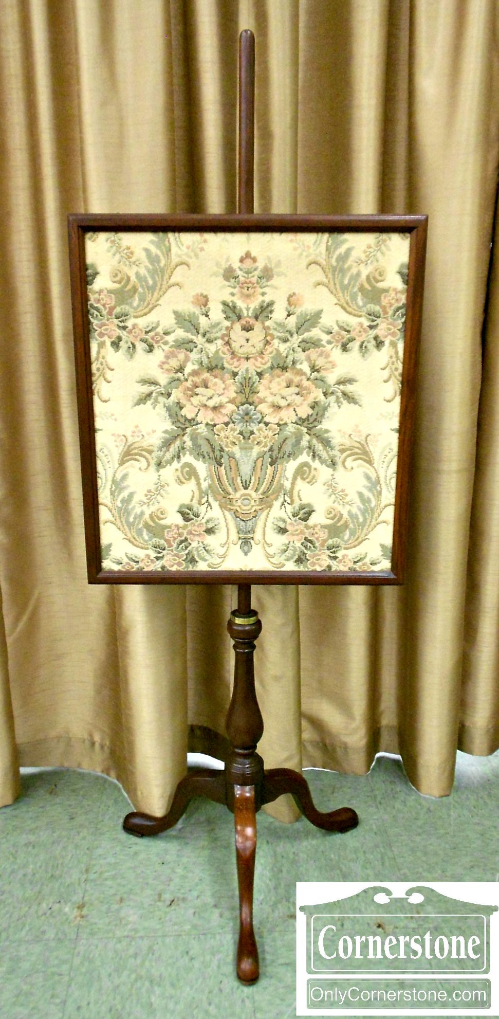 4910-14 Mahogany Queen Anne Fire Screen