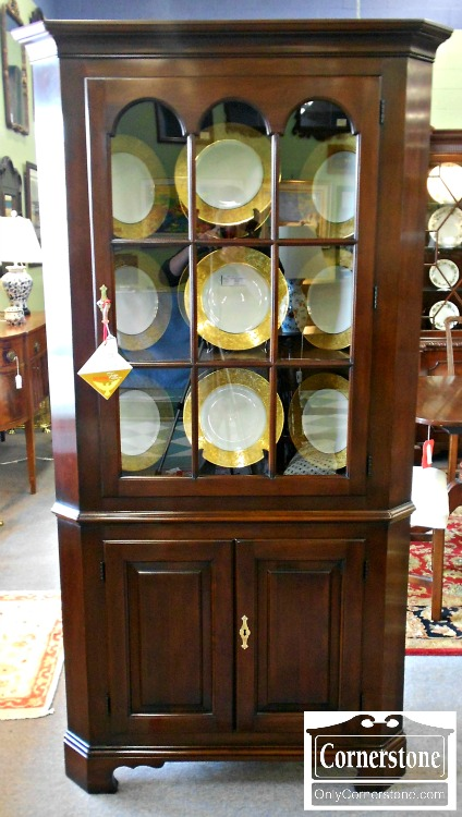 5960-71 Statton Solid Cherry Corner Cabinet in Oldtowne Finish